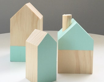 Timber house - set - Wooden houses  - kids - kids decor - gift for kids - christmas gifts