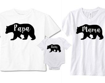 Mama Bear - Papa Bear - Baby Bear - Bear Shirts - Family Shirts - Matching Shirts - Mama Bear Baby Bear - Pregnancy - Announcement