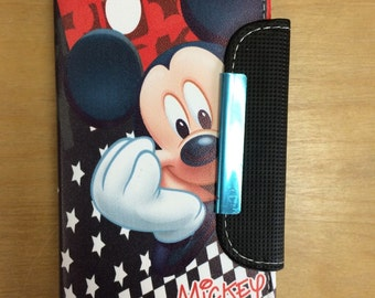 Disney Mickey Mouse PU Leather Case Wallet For Samsung Galaxy Note 3 Ship From NY