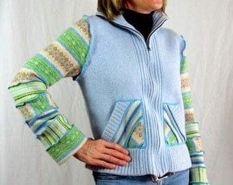 Upcycled Wool Sweater Jacket, Katwise Inspired