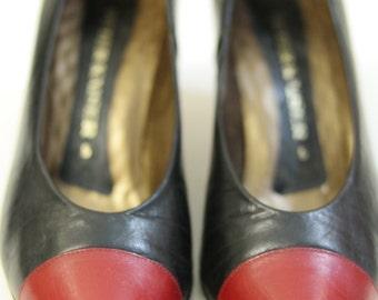 Shoe vintage leather women's shoes.
