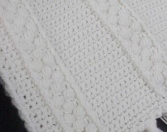 White Afghan, Crocheted