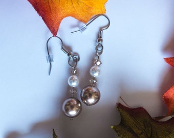 Swarovski pearl & crystal dangle earrings