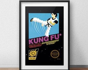 Kung Fu Original NES Box print