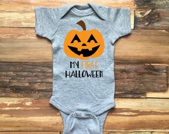 First Halloween Onesie, First Halloween Bodysuit, Baby Girl Halloween, Baby Boy Halloween