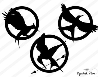 Hunger games, mocking jay SVG, PNG Cut Files for use with Silhouette Studio, Cricut, Cutting Machines, scrapbooking, vinyl,stencil template