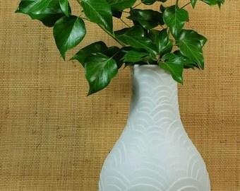 large white west german 70's op art bisque porcelain VASE heinrich selb bavaria
