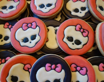 Monster High Themed Cookies