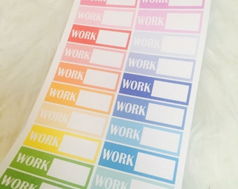 Work Schedule Planner Stickers | Rainbow