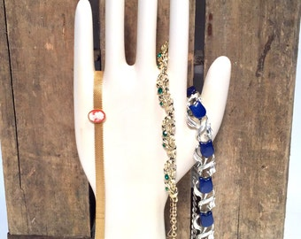 Glove Form, hand mold, Porcelain, Vintage Ceramic, Size Large, Antique Jewelry & Scarf Display, Eclectic Hand Display