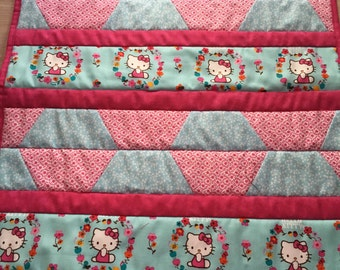 Hello Kitty doll size quilt