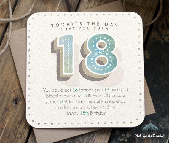 Funny 18th Birthday Card / 18th Birthday / 18 By LantherBlack