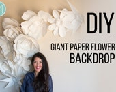 Giant Paper Flowers - Patterns and tutorials