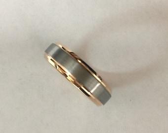 Tungsten rose gold wedding band Ring, size 8-13