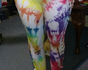 Weaved Tie Dyed Leggings - Small