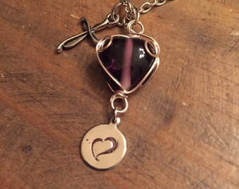for Diane Charity Necklace (large glass heart) #forDiane