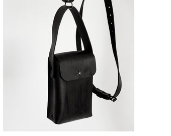 Little leather bag 009Y - black