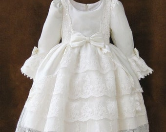 Couture Southern Bell Dress - flower girl dress, girls lace dress, wedding, pageants, birthdays, pictures, couture dress,