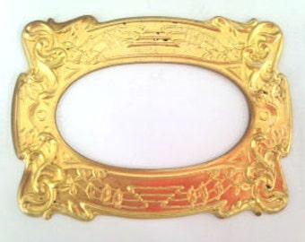 Art Nouveau Style Brass Pressing