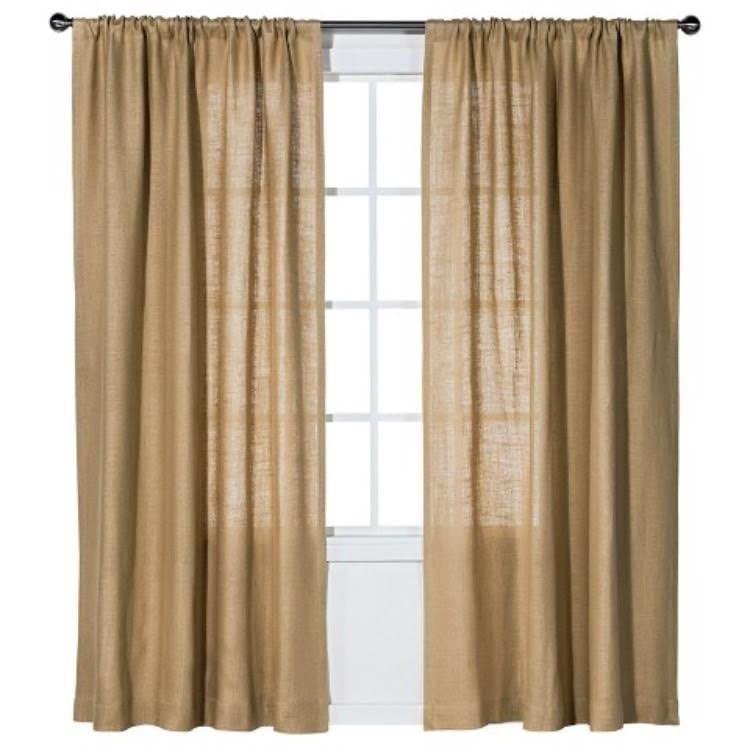 Burlap Curtain Curtains Burlap Drapes Drapery Burlap