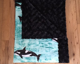 Orca Minky Baby Blanket