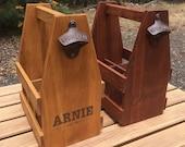 Personalised Wood Beer Caddy, Beer Crate, Beer Carrier, Mens Gift, Craft Beer, Groomsmen Gift