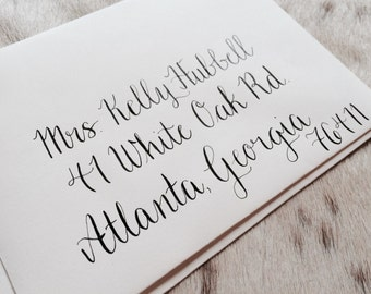 Custom Handwritten Calligraphy - Piper Font - Envelope Addressing