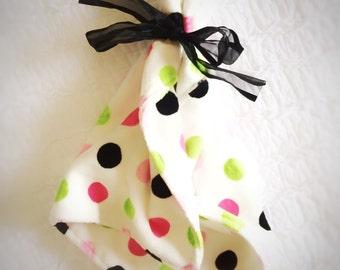 Polka Dot Baby Girl Snuggle Blankie