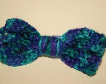 Crochet Bow Hair Accessory