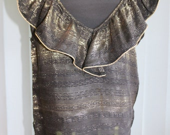 Vintage Black and Gold 1980's top