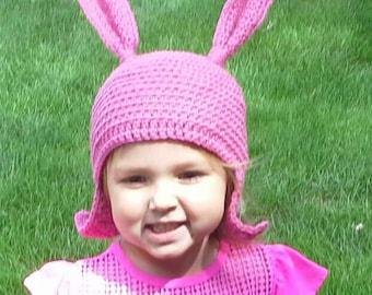 Pink Bunny Ear Cartoon Character Hat