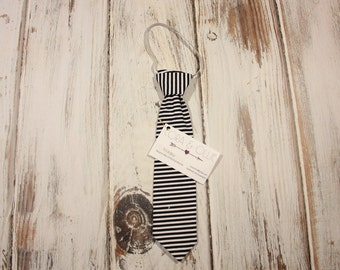 Black & White Stripe Toddler Tie