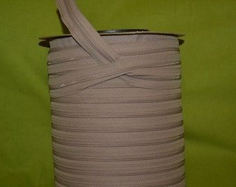 no 3 beige open end  zip  by the yard