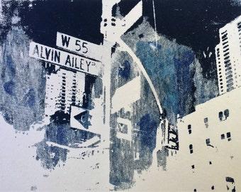 Alvin Ailey West 55th Street Manhattan, New York screen print