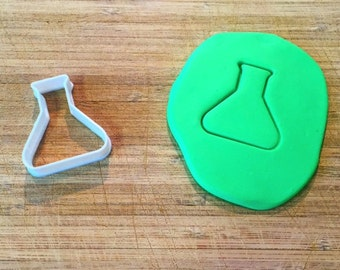 Erlenmeyer Flask Cookie Cutter, Science Cookie Cutters, Fondant Cutters, 3D Printed