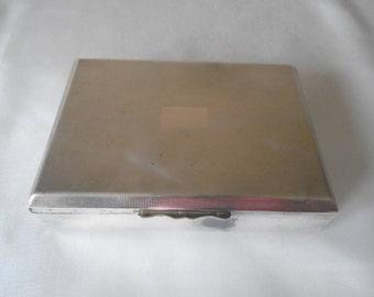 Aristocrat engine turned e.p.n.s cigar box