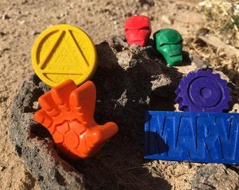 Ironman Crayons // Superhero Favor // Marvel Comic // Party Favor Bags // Crayon Goodie Bags // Ironman Gift // Avengers Crayons