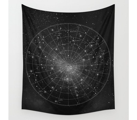 Constellation Wall Tapestry Wall Hanging Star Map