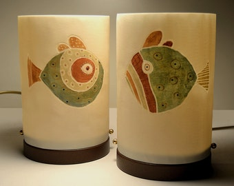 "Bedside lamps ""FISHES"""
