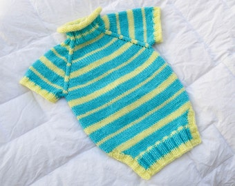 Striped Winter Dog Sweater Available In Different Colors