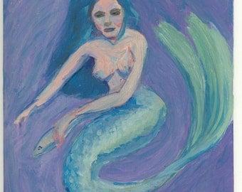 Fish Dinner Mermaid Painting