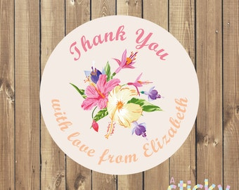 Personalized Thank You Stickers, Thank You Labels, Thank You Tags, Personalized Stickers, Custom Stickers, Bespoke Stickers, Thank You