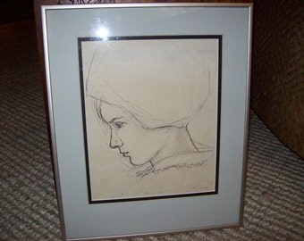 Original Pencil Drawing L. C. Fick