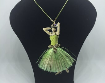 Dancing girl necklace