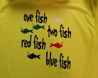 Dr Seuss Shirt/One Fish Two Fish Shirt/Dr Seuss Birthday/Cat in the Hat Shirt