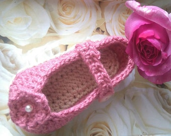 Mary Janes to crochet for baby
