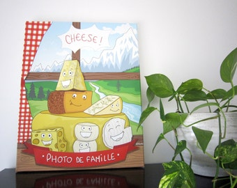 Printing on canvas 40x50 cm cheese illustration, wall decor, kitchen illustration