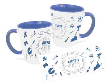Mug super dad, personalized mug, Father's Day gift, Unique coffee mug, ceramic mug, coffee mug