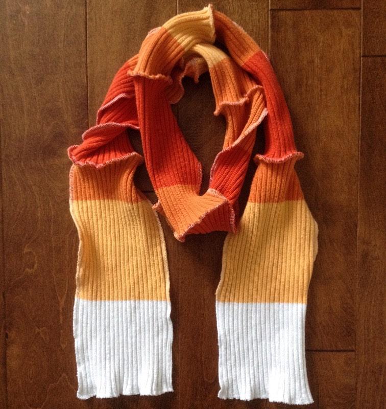 corn scarf fall scarf fall colors orange scarf