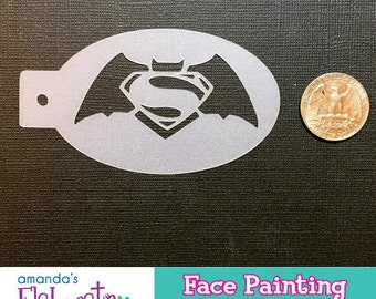 BAT vs SUPER - Face Painting Stencil (Mini)
